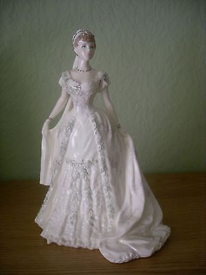 "Coalport Figure ""queen Mary"" Royal Brides  Ltd Edition 498/7500"