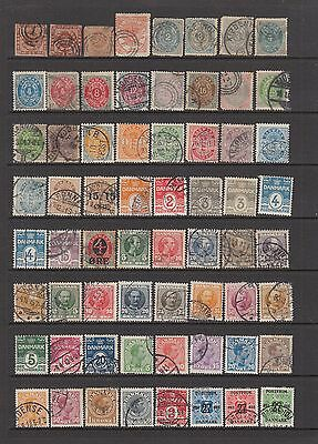 Denmark 1853 -1926 collection 116 stamps.