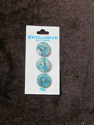 Collection Of 3 Vintage Fashionable Buttons Exclusive 2 Tone Green