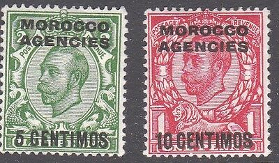Morocco Agencies 1912 GV 5c & 10c M/Mint