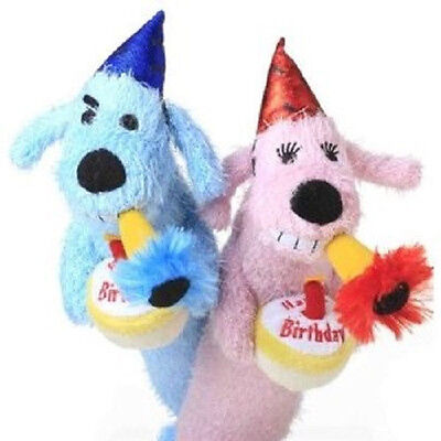 Multipet Birthday Loofa 12 Dog Toy B Day Plush Cake Free Shipping To Usa