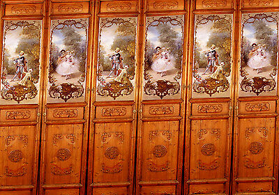 2 X Sheets Dolls House Wallpaper Mural Card panel 1/12th WP28