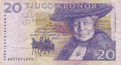 20 Kronor Fine Banknote From Sweden!pick-63