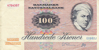 100 Kroner Very Fine Banknote From Denmark!pick-51