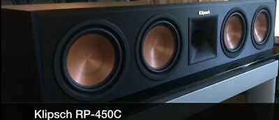 Center Speaker Klipsch Rp-450C Rp450 C Ebony Brand New ! Warranty