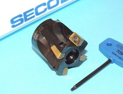 "NEW SECO 1.50"" Super Turbo Face Mill w/ XOMX Inserts (R220.69-01.50-12-4)"