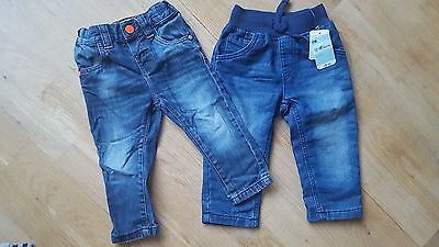 2 x boys jeans 12-18m BRAND NEW+USED NEXT+MOTHERCARE