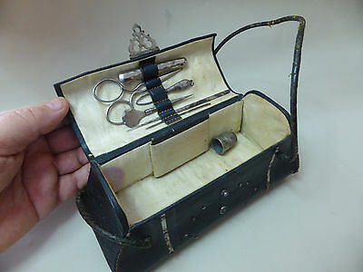 Antique  Sewing  Traveling Case,box purse - tools