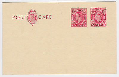 KING GEORGE VI 1d+1d UPRATED MINT POSTAL STATIONERY POSTCARD