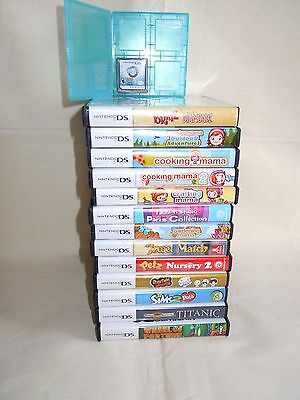 Lot of 14 DS Nintendo VIDEO GAMES 11 with INSTRUCTIONS