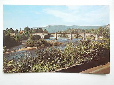 Colour Post Card Of River Tay At Dunkeld Perthshire