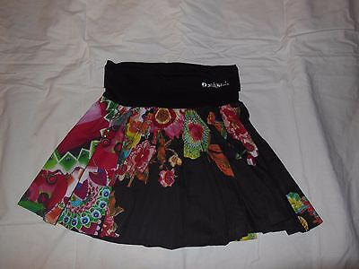 Desigual girls Skirt NEW NWT size 11/12 retail $39 red black green Sequin detail