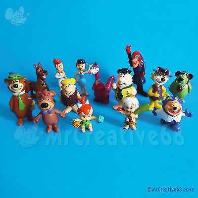 Hanna-Barbera Cartoon Figures -Artoy-Wacky Races/yogi/top Cat/scooby/flintstones