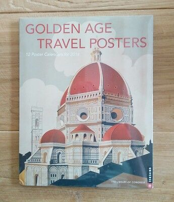 "12 x Golden Age Travel Posters Calendar for 2016 to fit 11 x 14"" Frame - Sealed"