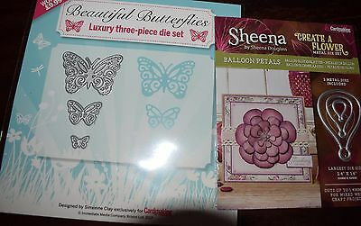 Created A Flower Petals &  Graduated Butterfly  - 2 Die Sets  Card Making 6 Dies
