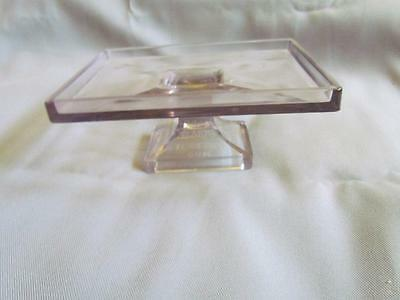 Vintage Clark's Teaberry Gum Glass Pedestal Display Stand Embossed Letters