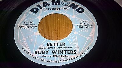 Ruby Winters - Better - Original - Diamond Records Usa - D-230