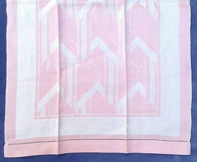 Vintage Art Deco Pink Damask Hand Towel Bathroom Cocktails