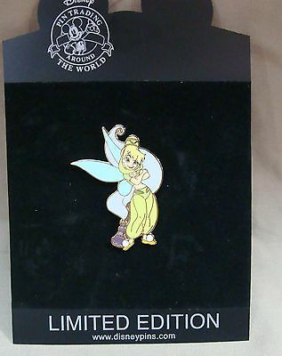 Rare Walt Disney Limited Edition 250 Tinkerbell As Genie W/bottle Trading Pin