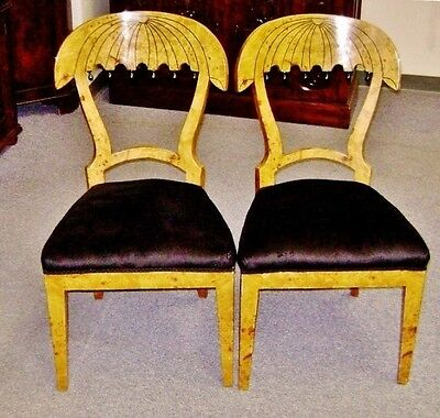 Finest QUALITY Pair of Vienna Biedermeier style Chairs