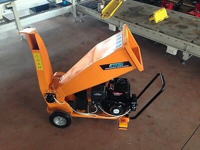 Petrol Garden Chipper Shredder Electric Start New 2 Year Warranty