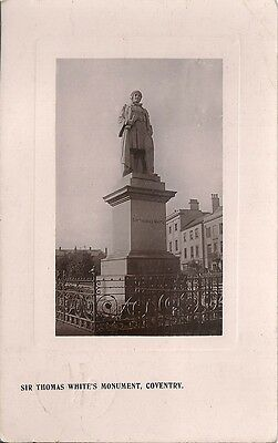Rare Old R/p Postcard - Sir Thomas White's Monument - Coventry Warwickshire 1908
