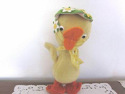 Vintage Merrythought England Duck Chick with Bonnet Shrops
