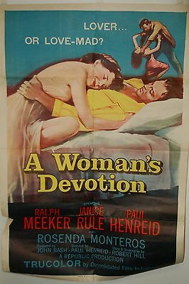 "A Woman's Devotion Original Movie Poster 27""x 41"" One Sheet 56 of 504 Folded"
