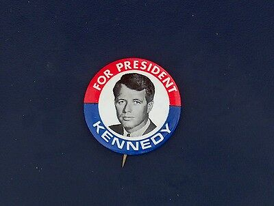 campaign pin pinback button political badge election KENNEDY ADVERTISING 1.5""