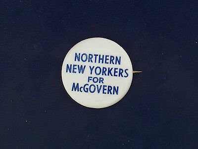 campaign pin pinback button political badge election McGOVERN ADVERTISING 1.5""