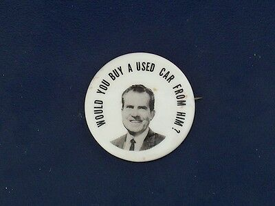 campaign pin pinback button political badge election NIXON ADVERTISING 1.25""