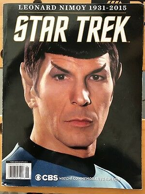 Star Trek Leonard Nimoy 1931-2015 CBS Watch! Commemorative Edition magazine
