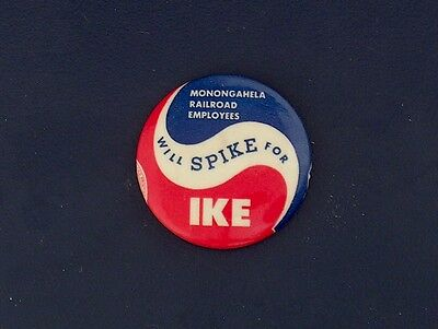 campaign pinback button political badge election EISENHOWER ADVERTISING 1.25
