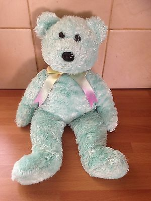 Ty Large Plush Beanie Buddy Sherbet ( the Bear Green ) - EXCELLENT & CLEAN