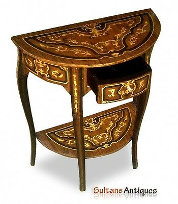 Amazing full marquetry French Louis XV Style console