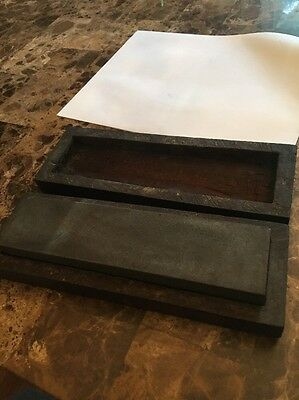 "Vintage Sharpening Stone Wood Box Knife Blade  8"" X 2"" X 1"""