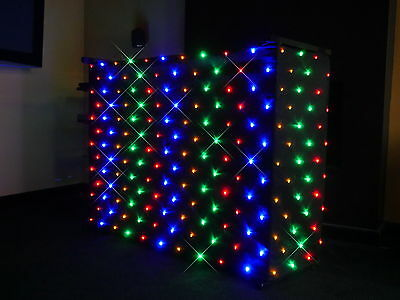 MULTI COLOURED LED STARCLOTH FOR THE 4FT DJ STAND/ BOOTH 200+LEDs PROFESSIONAL