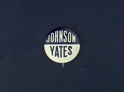 campaign pin pinback button political badge election JOHNSON ADVERTISING 1""