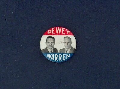 campaign pin pinback button political badge election DEWEY ADVERTISING 7/8""