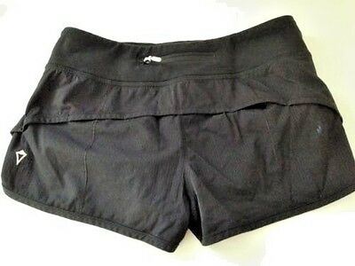 IVIVVA by LULULEMON Speedy Short Shorts Solid Black Girls size 12 Run Speed EUC