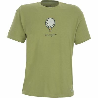 Life is Good Shirt, Men's L, Golf Ball,  Short Sleeve, New with Tags