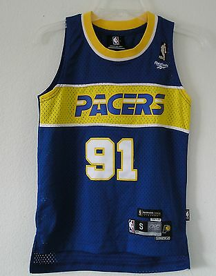 THROWBACK~NEW~Reebok Indiana Pacers RON ARTEST HARDWOOD CLASSICS Jersey~Youths M