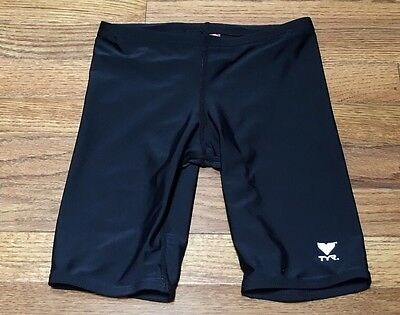 Boy's TYR Jammer Swimming Shorts Swimwear Lycra Size 26 Black