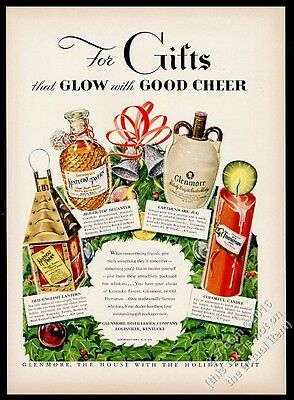 1947 Glenmore Old Thompson Kentucky Tavern Bourbon Whiskey Xmas vintage print ad