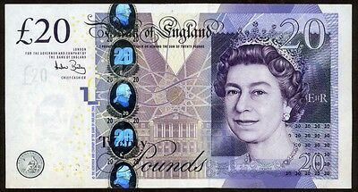 Great Britain 20 Pounds  2006 Note !!!! Xf-Au