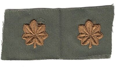 Cloth Military Badge:  Army Officer Rank, Major (pair) - subdued