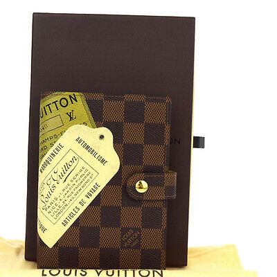 Auth LOUIS VUITTON Agenda PM Notebook Cover Label Collection Brown R21069 66W384