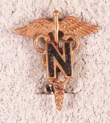 Army Officer Collar Pin:  Nurse Corps - WWII pin back, AMCRAFT