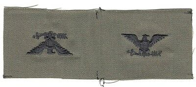 Cloth Military Badge:  Army Officer Rank, Colonel (pair) - subdued