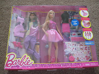Barbie Doll & Fashion Accessories Set - Several Outfits - New In Box!